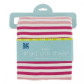 Kickee Pants Fitted Crib Sheet, Forest Fruit Stripe