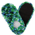 Fuzzy Footies Green/Blue/White