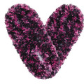 Fuzzy Footies Dark Purple/Pink/Purple