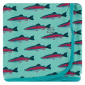 Kickee Pants Swaddling Blanket, Glass Rainbow Trout
