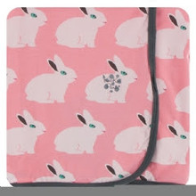 Kickee Pants Swaddling Blanket, Strawberry Forest Rabbit
