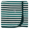 Kickee Pants Swaddling Blanket, Wildlife Stripe