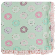 Kickee Pants Ruffle Toddler Blanket, Pistachio Donuts