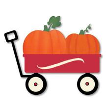 Pumpkins in Speed Wagon Magnet