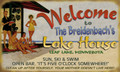 Meissenburg Welcome to Our Lake House (Personalized)