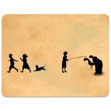 """Creature"" art card and postcard"
