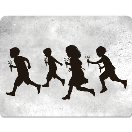 Running With Scissors art card / postcard
