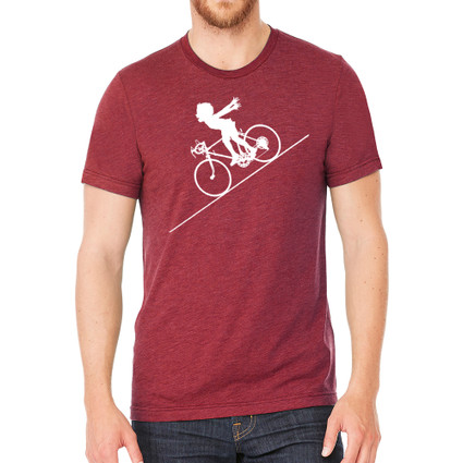 FASTER FASTER on heather cardinal - 52% cotton, 48% polyester
