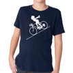 FASTER FASTER (boy) on kids tri-blend on vintage navy