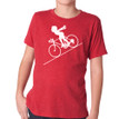 FASTER FASTER (boy) on kids tri-blend on vintage red