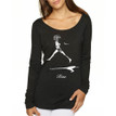 RISE on women's long sleeve tri-blend - black