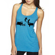 HOT LAVA on women's vintage turquoise triblend racer back tank