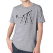 JUMP on heather grey tri-blend for kids