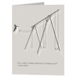 LIFE IS EITHER A DARING ADVENTURE OR NOTHING AT ALL - greeting card