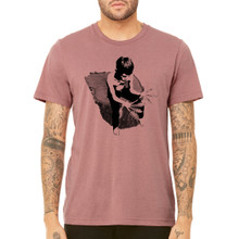 CONTEMPLATING GROWTH on men's / unisex mauve  triblend shirt.