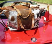 Cowhide And Leather Travel Bag