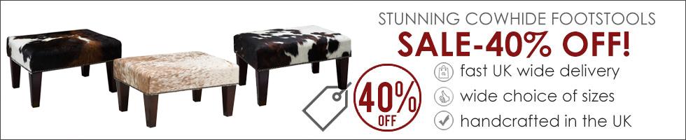 Cowhide Footstool Sale