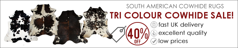 Tri Colour Cowhide Rug Sale