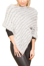 Light Grey Coney Fur Poncho