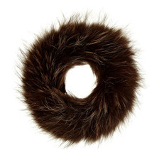 Dark Brown Fox Fur Headband