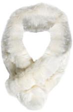 Cream Bellringer Fur Scarf RFS12A-02