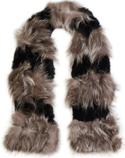 Silver Fox & Coney Fur Scarf FF1018A-01
