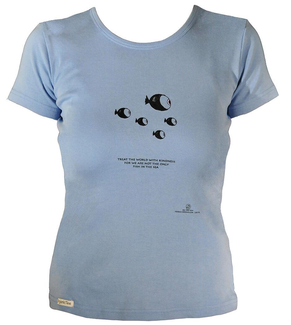 e33e888a3 Women's Organic Cotton Short Sleeve Fish Designs - Ataraxia Designs