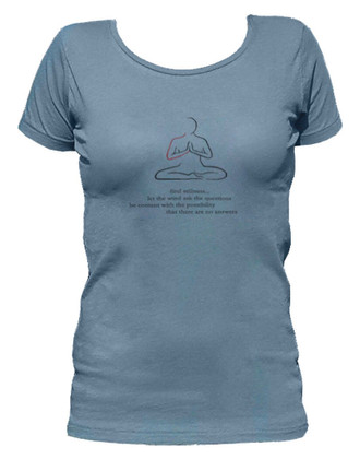 Women's Organic Cotton Scoop Neck Short Sleeve Yoga Designs