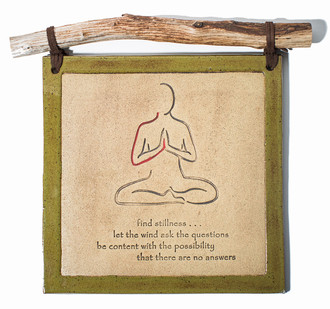 Red Line Yoga Clay Wall Hangings
