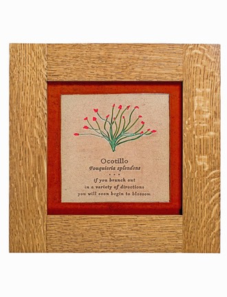 Wildflower Solid Oak Craftsman Style Frame Tiles