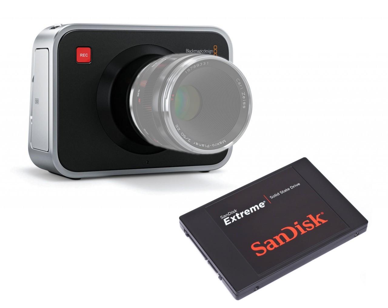 Blackmagic Cinema Camera EF Mount with SanDisk Extreme 240G SSD Video