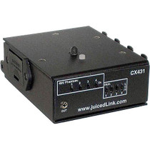 juicedLink CX431 4-Channel Camcorder Audio Mixer and Preamplifier