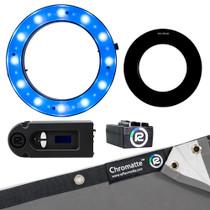 Reflecmedia 8'x8' Deskshoot Lite Standard Bundle with Medium Dual LiteRing (RM1125DM)