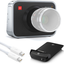 Blackmagic Cinema Camera EF with Seagate Thunderbolt SSD Reader + Cable