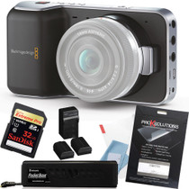 Blackmagic Pocket Camera w/ PKT-BASEK + 32GB Card + Screen Protector