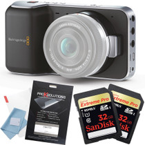 Blackmagic Pocket Cinema Camera w/ 2x 32GB Cards + Screen Protector