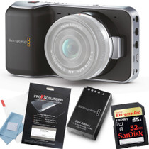 Blackmagic Pocket Camera w/ 32GB Card+Extra Battery+Screen Protector