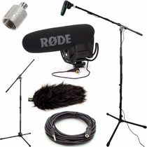 RODE VideoMic Pro Microphone Studio Boom Kit with Deadcat
