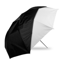 "Westcott 43"" Optical White Satin w/ Removable Cover Collapsible Umbrella"