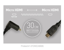 Atomos Pro Video Coiled HDMI Cable - Micro HDMI to Micro HDMI