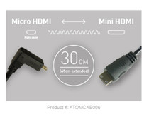 Atomos Pro Video Coiled HDMI Cable - Micro HDMI to Mini HDMI
