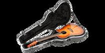 SKB-1SKB-16 Acoustic Shallow Roundback Shaped Hardshell - TSA Latch, Over-Molded Handle