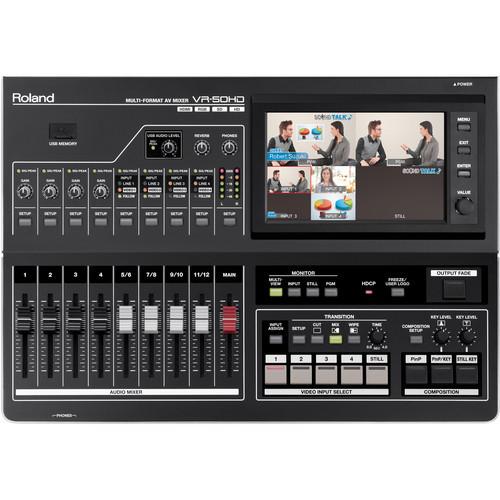 Roland VR-50HD Multi-Format AV Mixer Top