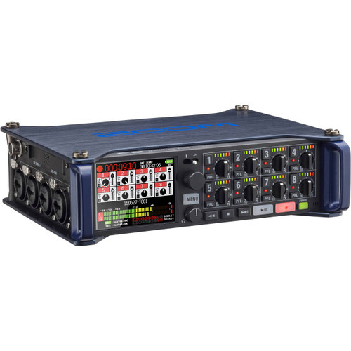 Zoom F8 Multi Track Field Recorder - Front Top Side
