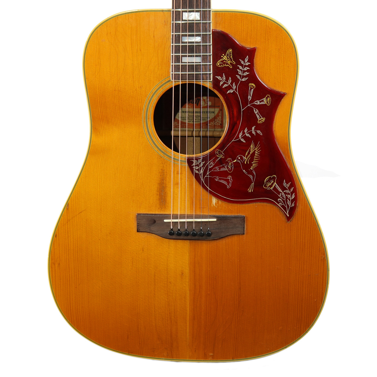 vintage 1975 gibson hummingbird dreadnought acoustic guitar natural finish ebay. Black Bedroom Furniture Sets. Home Design Ideas