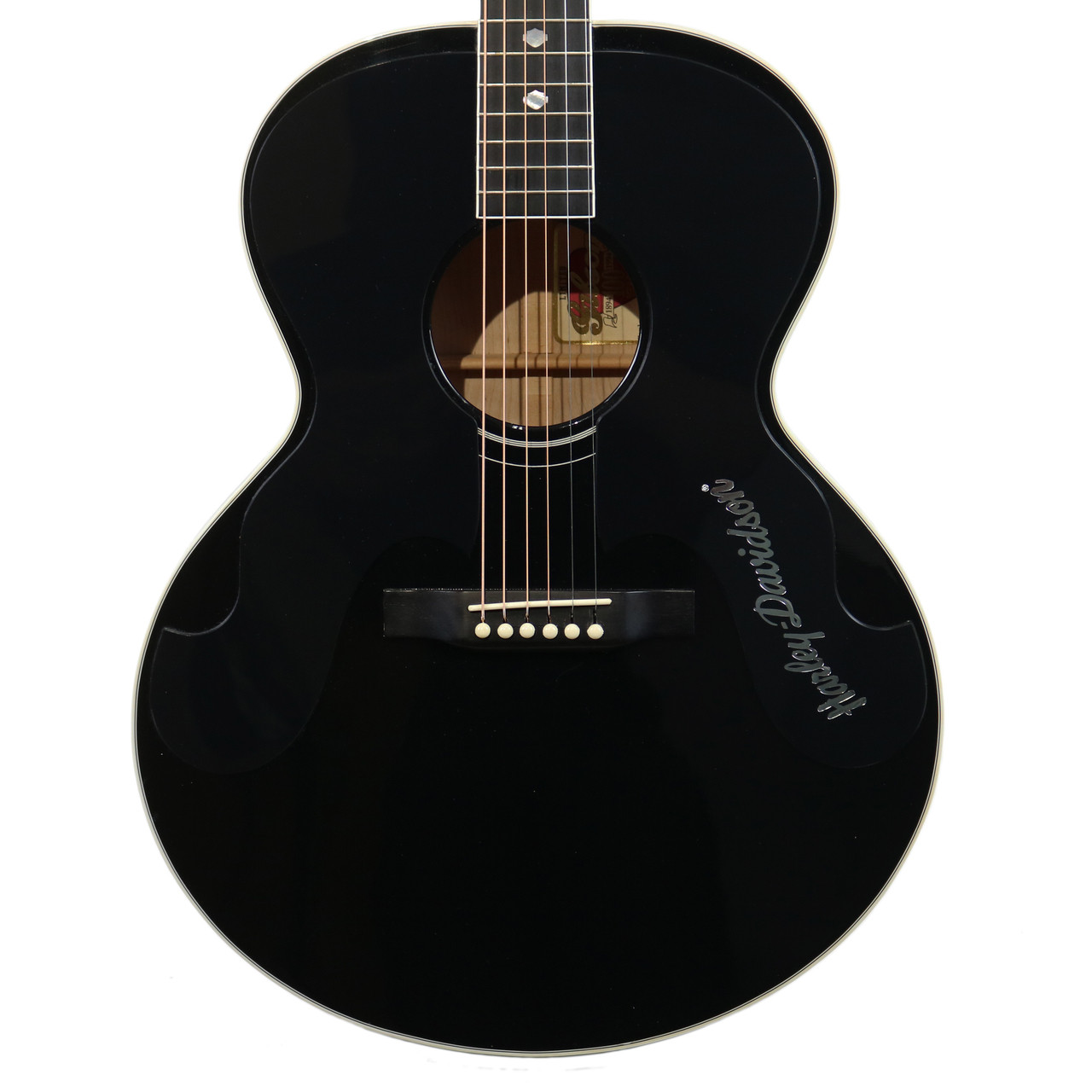 1994 gibson harley davidson ltd j 185 acoustic guitar black ebay. Black Bedroom Furniture Sets. Home Design Ideas
