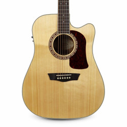 Washburn HD20SCE Dreadnought Acoustic-Electric Guitar in Natural