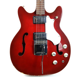 Vintage 1968 Supro N800 Thinline Electric Guitar Red Finish