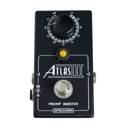 Spaceman Effects Atlas III Medium Gain Preamp Boost Guitar Pedal in Limited Edition Black