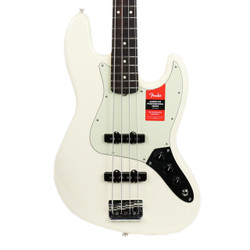 Fender American Professional Jazz Bass Rosewood Fretboard in Olympic White